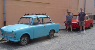 Mike, landlord, and his Trabants
