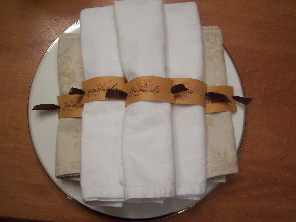 Monica Wilkinson Thanksgiving Napkin Rings