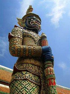 Giant in Wat Phra Kaew Bangkok Thailand