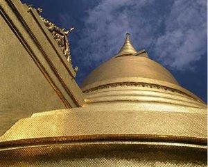 Golden Mosaic in Wat Phra Kaew Bangkok Thailand
