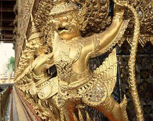 Grand Palace in Wat Phra Kaew Bangkok Thailand