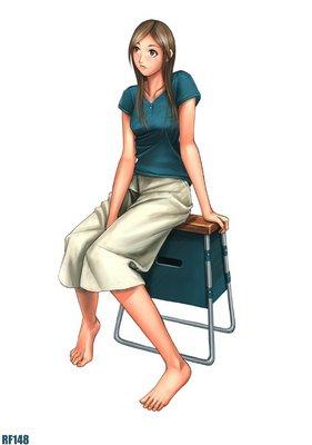 sitting lady - joven sentada