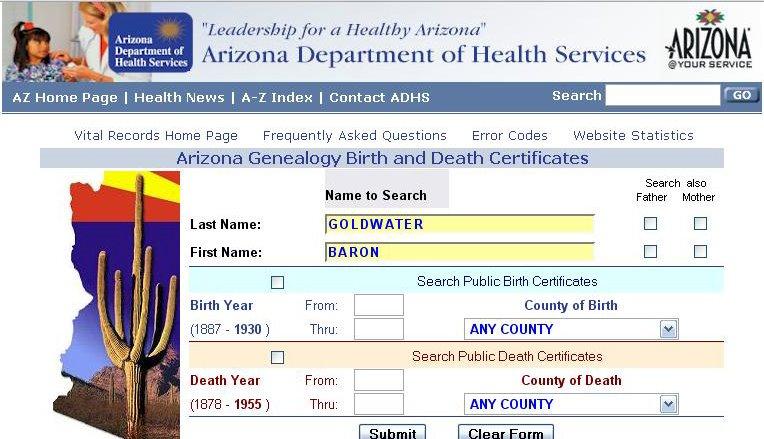 Arizona Department Of Vital Records Birth Certificate Best Design