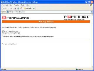 Kamadenu Site Blocked @ Work