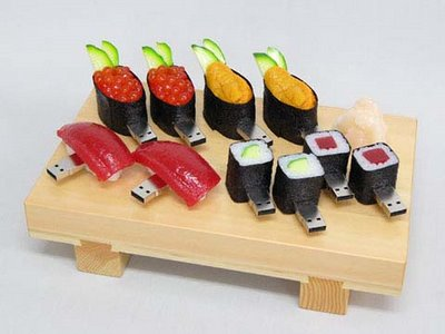 Japanese Sushi shaped USB drives