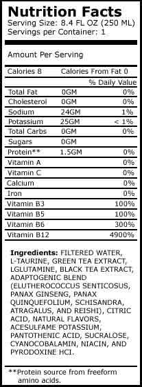 Sugar Free Energy Drinks: XS Tea Berry