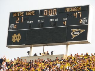 There is a God.  And He hates Notre Dame.