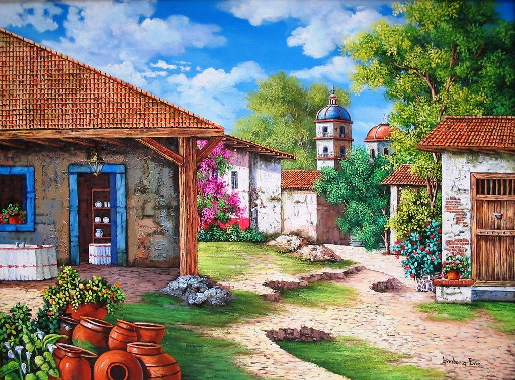 Pinturas al leo l nea mexicana l nea mexicana for Cuadros mexicanos rusticos