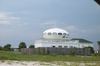 Photo of a saucer shaped home at Pensacola Beach