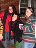Anne, Mary and Amber at Oyster Roast
