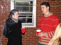Drew and unidentified female at Oyster Roast