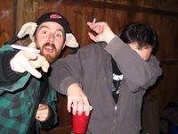 Drunk Jordan and Mac at Oyster Roast