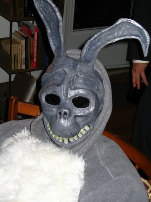 Gully as Donnie Darko rabbit