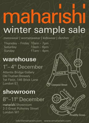 Maharishi Winter Sample Sale