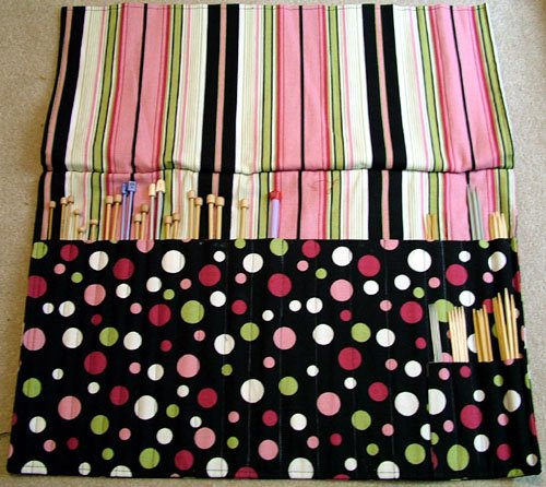 Sew I Knit Pink Knitting Needle Bag For Project Spectrum