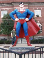 Superman outside the Massac County Courthouse