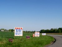 Campaign Signs for Primary Election, Christian County, KY