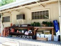 Back porch of a flower shop