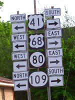 Highway signs in Hopkinsville, Kentucky