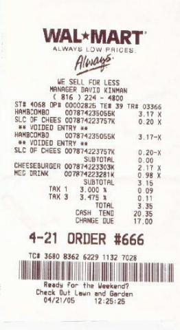 Walmart Receipt For Television Related Keywords & Suggestions ...