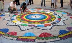 Elx al carrer, mosaico en Santa María