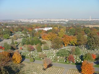 Arlington National Cemetery (Washington Monument in background)