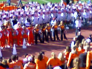 Singing the OSU Alma Mater after the win over KU