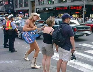 Pic from nakedcowboy.com-peforming in New York City