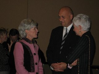 Kansas Governor Kathleen Sebelius, Cal Ripken, Jr., some lady