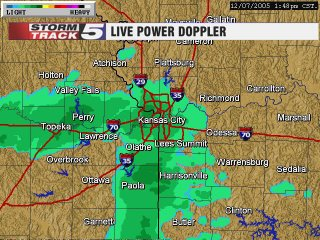 KCTV5's Doppler Radar-green means snow