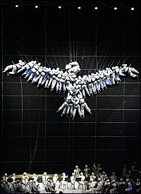 Dove of Peace created by human performers at the opening ceremony of the Torino 2006 Winter Olympic Games