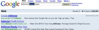 Google Adsense scam advertisement on Adwords