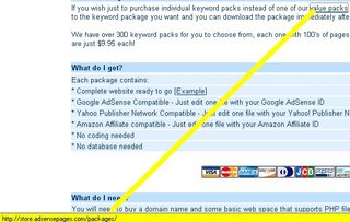 Adsense duplicate content product value packs spam