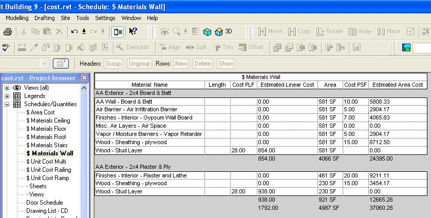 Revit beginners cost estimating for How to estimate the cost of building a home