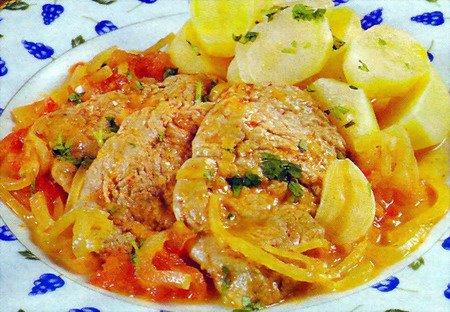 Tasca da elvira escalopes de porc aux oignons - Recette de cuisine familiale ...