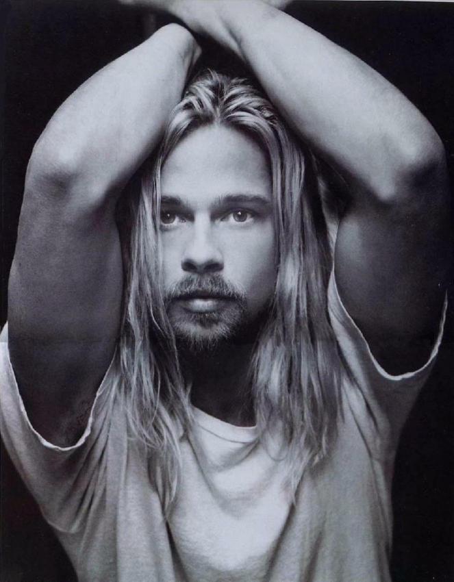 Men With Long Hair: Brad Pitt: Just Because