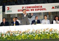 Secretário Marcos Montes, fala aos Delegados Municipais