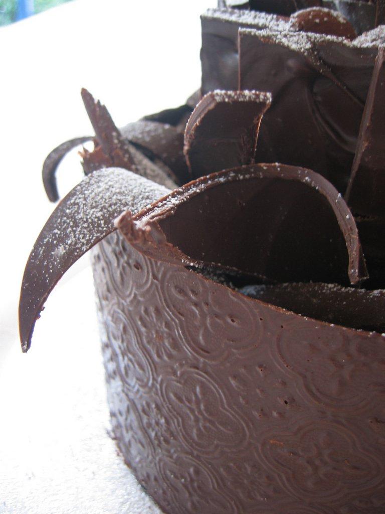 how to make a chocolate collar