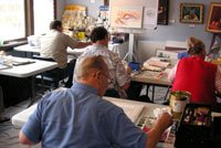 Roland Lee watercolor painting workshop