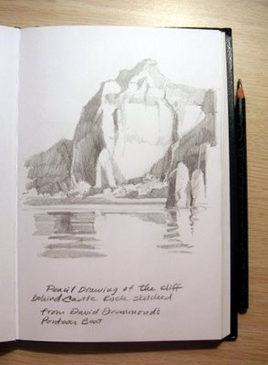 Roland Lee sketchbook study at Lake Powell