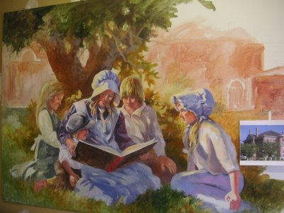 Roland Lee oil painting for Washington County Library