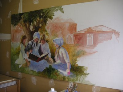 Mural painting step 6