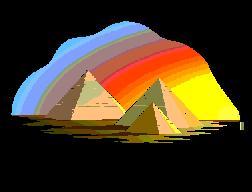 Los Colores del Arco Iris que los psiquicos pueden ver alrededor de las Piramides