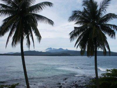 São Tomé vista do Ilhéu das Rolas