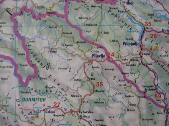 Gore mape crne Crna Gora