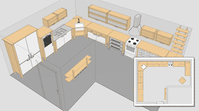 Vivienda mania planificador 3d de cocinas ikea - Planificador de cocinas ...