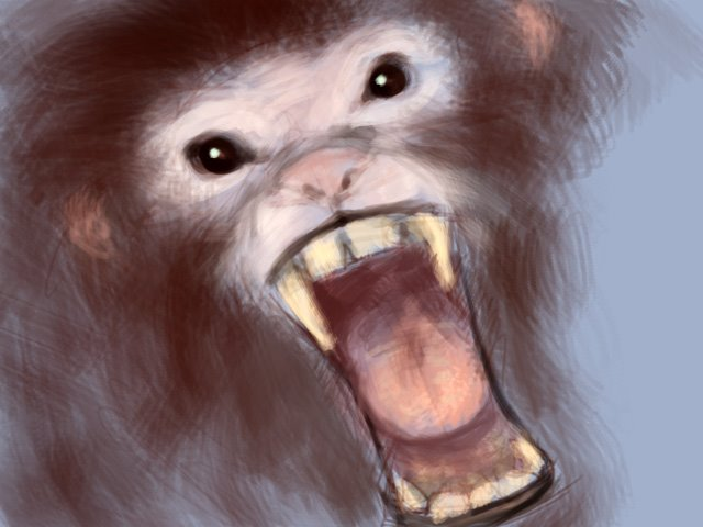 Sketch  1 - Angry Monkey Angry Monkey Face