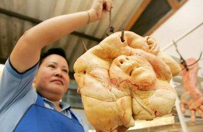 baked human head