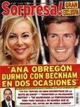 Ana Obregón durmió con Beckham en dos ocasiones