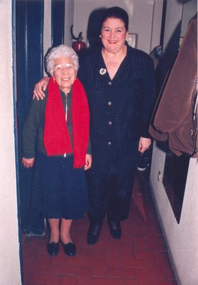 Foto de Germana com Anita Guerreiro